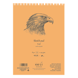 SM.LT authenticpad Coil Sketch Kraft A4 90gsm 60shts **ND**