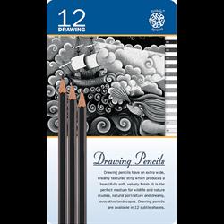 Pentalic Drawing Pencil Tin Sets
