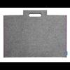 "Itoya Profolio Midtown Bag 14"" x 21"" Grey w/ Purple Threading"