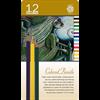Pentalic Colored Pencil Tin 12 Color Set