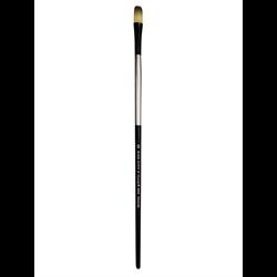 Brush Black Silver LH Filbert 12