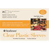 """Strathmore Cards Clear Plastic Sleeves 5.4375"""" x 7.25"""" 25pk"""
