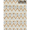 Paper Aztec - silver/gold on cream **ND**