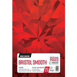 """Chartpak Pad in & out PAGES Koh-I-Noor Bristol Smooth 270GSM 9""""x12"""""""
