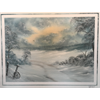 "//Full - ""Deserted"" Bob Ross Style Oil Painting Class w/Kathryn Wallack, Feb 11"