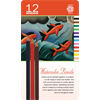Pentalic Watercolor Pencil Tin 12 Color Set