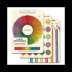 Cavallinni & Co. Vintage Mini Note Book 3-book set - Color Wheel **ND**