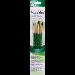 Brush Set 9110 Real Value Series - Camel Set of 4 brushes
