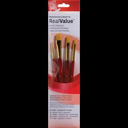 Brush Set 9123 Real Value Series - Golden Taklon Set of 4 brushes