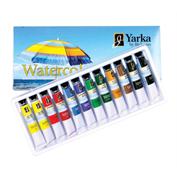 Yarka Watercolour Tubes 12 Colours 7.5ml