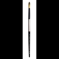 Brush Black Silver SH Round 8