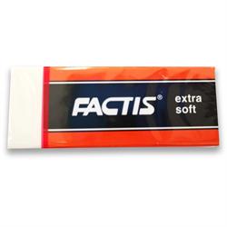 Eraser Factis ES-20 Extra Soft White Vinyl