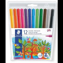 Markers Fibre Tipped Pens Staedtler 12 Pack