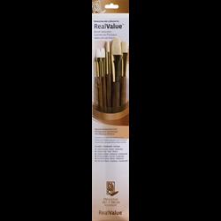 Brush Set 9148 Real Value Series - Sable/Bristle Set of 6 brushes - LH