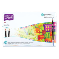 Derwent Academy Colouring Pencil Set 36 Piece