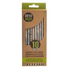 Onyx + Blue Recycled Newspaper Pencils 10pk