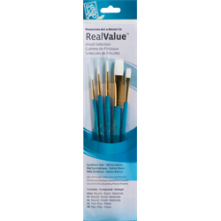 Brush Set 9174 Real Value Series - White Taklon Set of 5 brushes