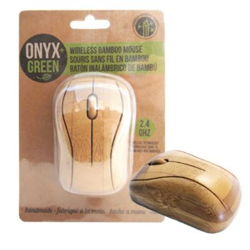 Onyx + Blue Wireless Bamboo Mouse  **ND**