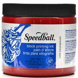 Speedball Block Printing Ink 16oz Red 3701