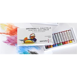 Spectrum Oil Pastels Water-Soluble set of 12 assorted
