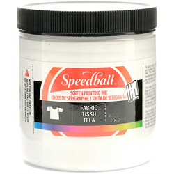 Speedball Fabric Screen Printing Ink White 8oz