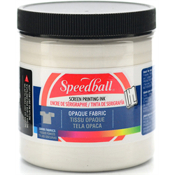 Speedball Fabric Screen Printing Ink Opaque Pearly White 8oz