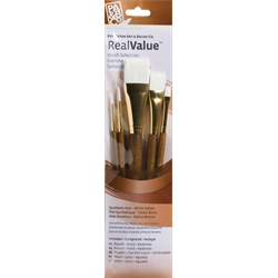 Brush Set 9144 Real Value Series - White Taklon Set of 5 brushes