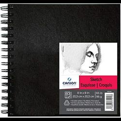 Canson Art Book Sketch coil 8x8 65lb