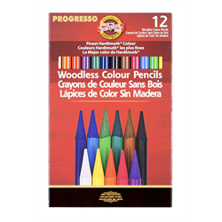 Progresso Woodless Coloured  Pencil Set 12 Piece
