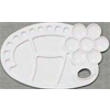 """Palette Richeson Plastic Oval with Flower 21 Well 8.25""""x13.5"""""""