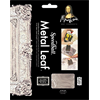 "Mona Lisa Imitation Silver Leaf 25 Sheets 5 1/2"" square (0018206)"