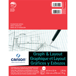 Canson Foundation Graph & Layout 4sq/in 8.5x11