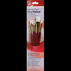 Brush Set 9120 Real Value Series - White Taklon Set of 4 brushes