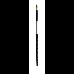 Brush Black Silver SH Round 6