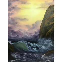 "//Done - ""Cliffside"" Oil Painting Class with Kathryn Wallack, Feb 8th"