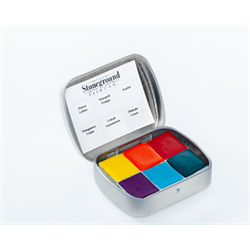 Stoneground Watercolour Palette - 6pc Summer **ND**