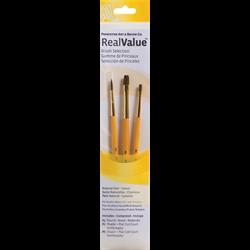 Brush Set 9101 Real Value Series - Camel Set of 3 brushes