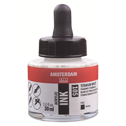 Amsterdam Acrylic Ink 30ML TIT.WHITE **ND**