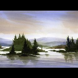 //Done - Distant Islands - Beginner Watercolour with Wendy Kroeker, Mar. 22nd