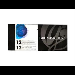 Grumbacher WCT12.SET Trans Watercolor Pan Set-12