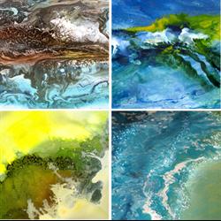 //Done - Wendy Kroeker Ocean Dreams Liquid Acrylic on Canvas, Feb. 15th, 2018