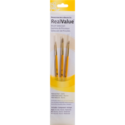 Brush Set 9105 Real Value Series - Sable Set of 3 brushes