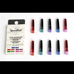 Speedball Calligraphy Fountain Pen Ink cartridges Assorted 10pk